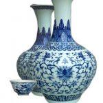 Wazony wykonane za Dynastii Qing era Qianlong oraz Czarka z motywem smoka, dynastia Qing era Jiaqing