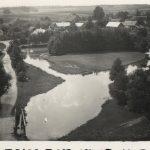 Widok z pagórka w czombrowskim parku. Lata I wojny.