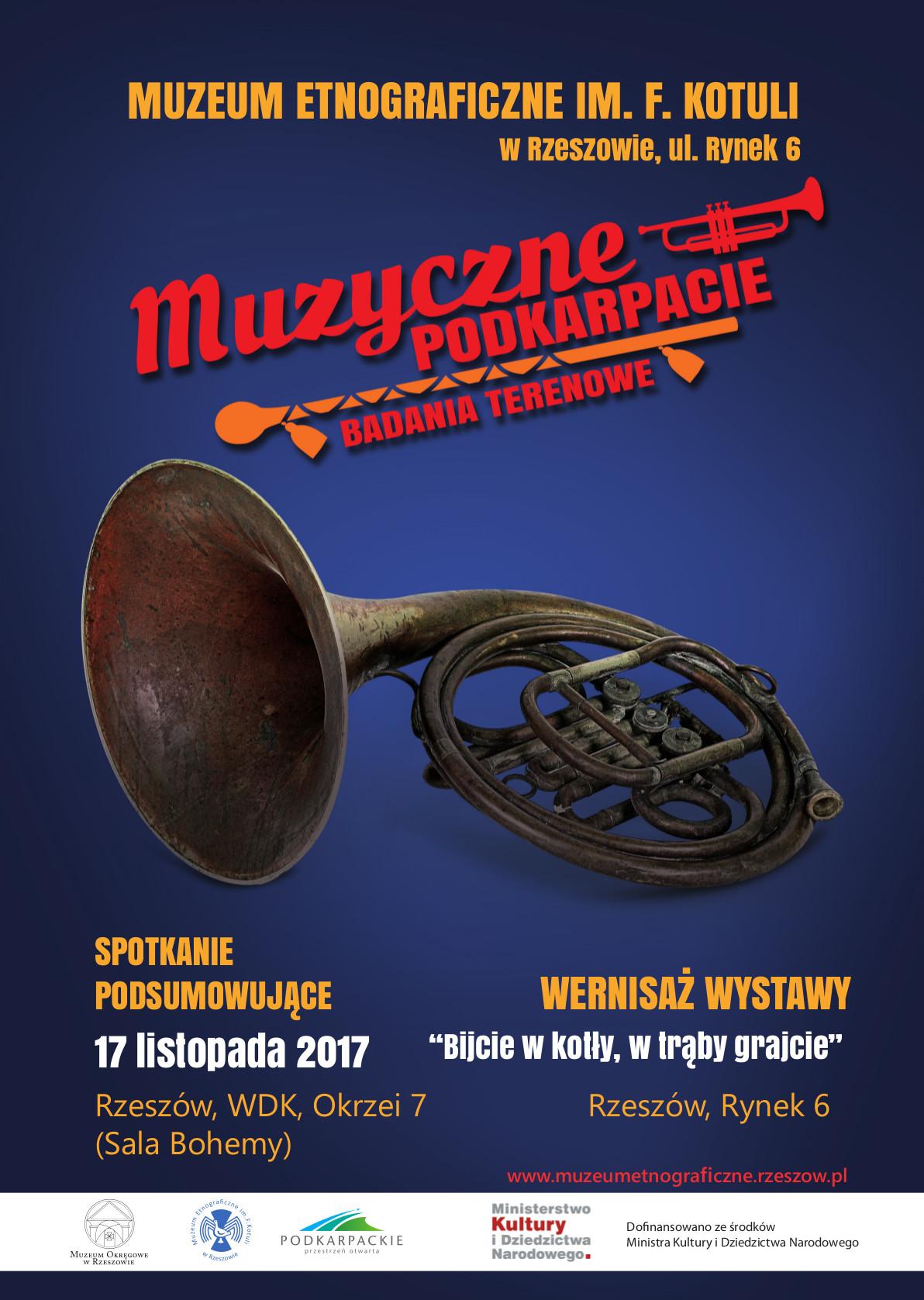 Plakat Muzyczne Podkarpacie Badania Terenowe Muzeum