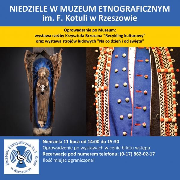 11.07.2021 14:00-15:30 Niedziela w Muzeum